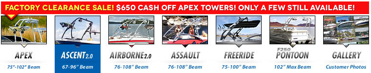 wakeboard tower for boats