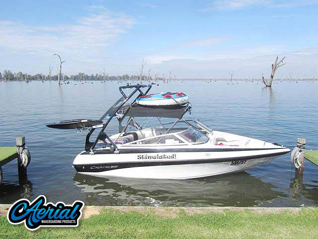 Wakeboard tower for Crownline 180BR 2010 boat featuring Aerial's FreeRide Tower