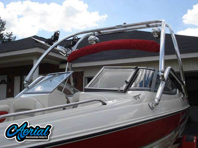 2008 185LS Stingray Wakeboard Tower, speakers, racks, bimini