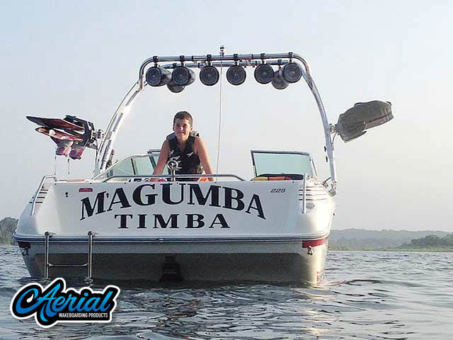 Wakeboard tower for 1991 Sea Ray 225 with FreeRide Tower