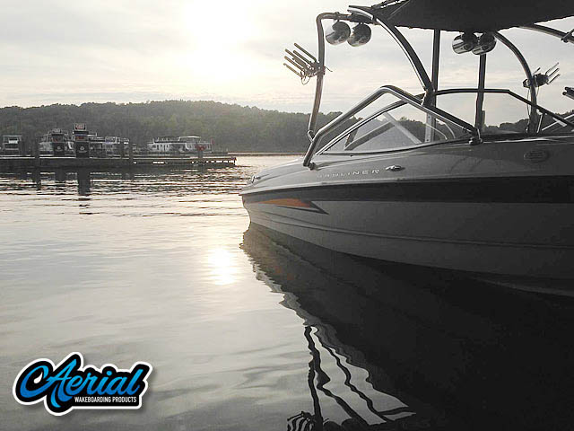 Wakeboard tower for 2004 Bayliner 205 with Airborne Tower with Eclipse Bimini