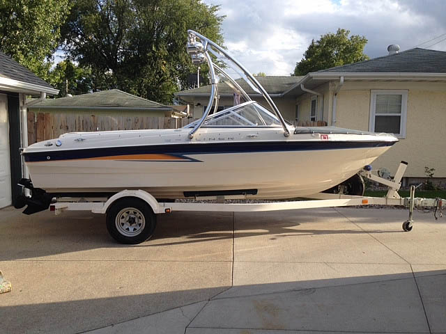 Wakeboard tower for 2004 Bayliner Sport with Ascent Tower