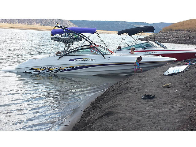 Wakeboard tower for 2002 Caravelle Interceptor 232 boat featuring Aerial's Assault Tower