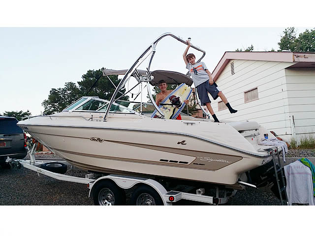 Wakeboard tower for 1994 Sea Ray Signature Select 220 with Ascent Tower
