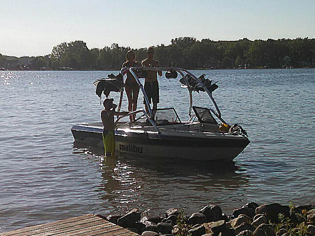 Wakeboard tower for 1992 Malibu Euro with Airborne Tower