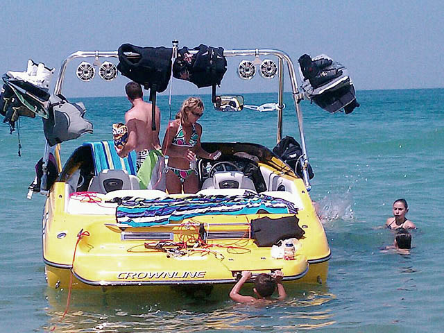 Wakeboard tower for 2005 Crownline LPX with Airborne Tower