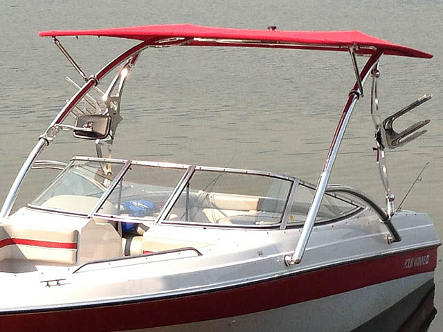 1994 Four Winns 180 Horizon SE wakeboard tower, speakers, racks, bimini & lights