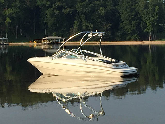 Wakeboard tower for 2003 Maxum 1900sr boat featuring Aerial's Airborne Tower