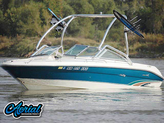 Aerial Airborne Tower on a 1996 SeaRay 210 Select Signature boat