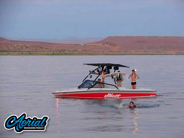 Wakeboard tower for 1992 Ski Brendella Pro Comp with Airborne Tower with Eclipse Bimini