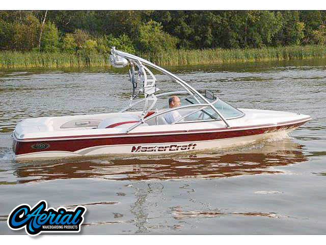 View wakeboard tower and accessories on a 2000 mastercraft prostar 190