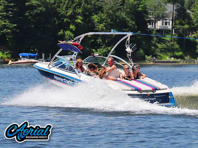 Wakeboard tower package on a 94 Mastercraft Maristar 225VRS with an Aerial Assault Tower