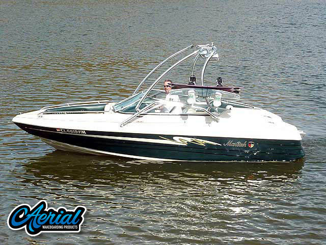 Wakeboard tower for 1997 Mariah Shabba 198SE boat featuring Aerial's Airborne Tower
