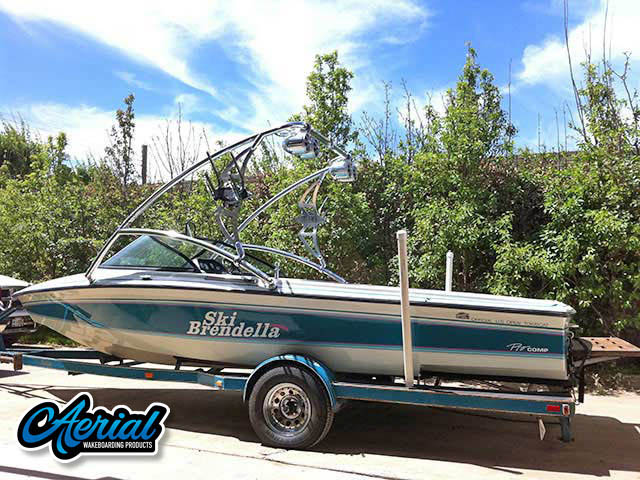 1993 Ski Brendella pro comp Wakeboard Tower, speakers, racks, bimini