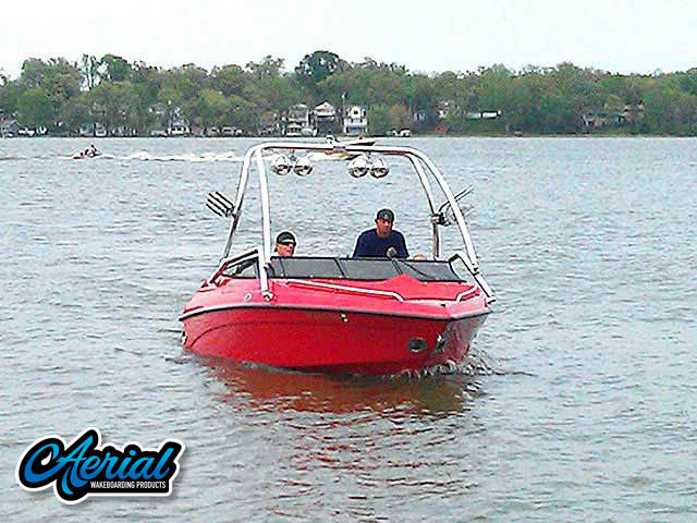 Wakeboard tower for 1999 Crownline 182 lpx boat featuring Aerial's Airborne Tower