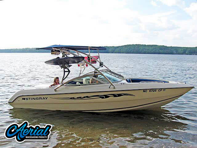 Wakeboard tower for 1994 Stingray 656ZX boats by Aerial Wakeboard Tower Products