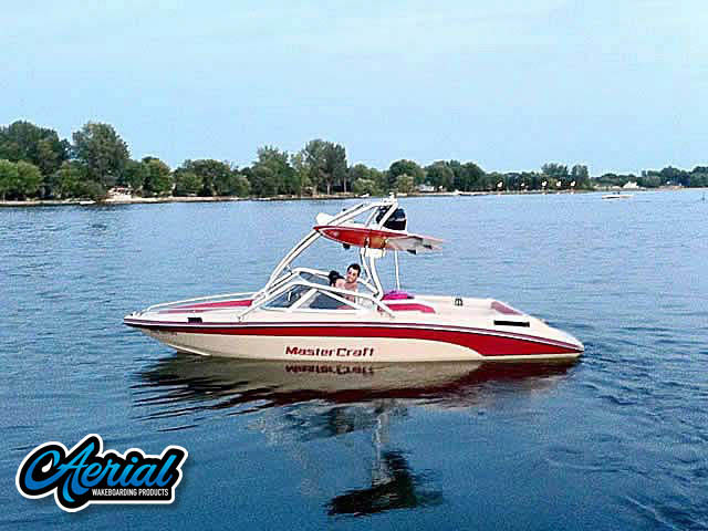 Aerial Airborne Tower installation on a Mastercraft Tristar 89 boat