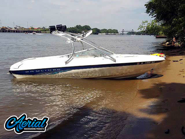 Wakeboard tower for Bayliner boats by Aerial Wakeboard Tower Products