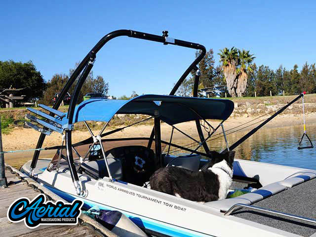 1994 Malibu Flight Craft 18XL Wakeboard Tower, speakers, racks, bimini