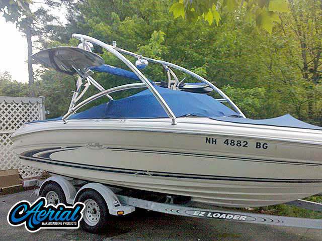 Aerial Assault Tower on a 1999 Sea Ray 190 Bowrider boat