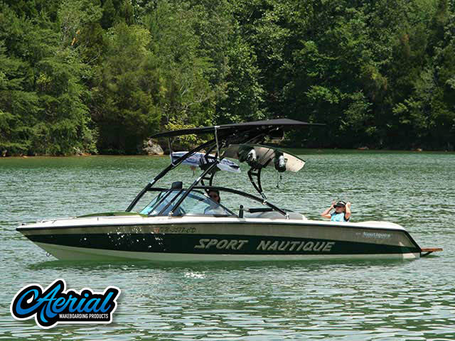 Assault Tower with Eclipse Bimini Wakeboard Installed on 1997 Correct Craft Sport Nautique Boat