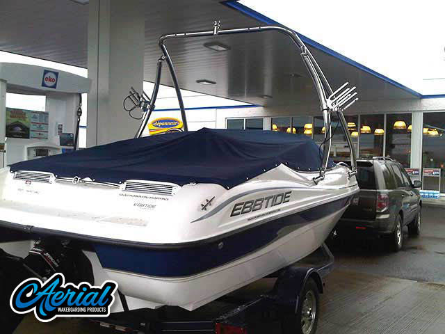 Ascent Tower Wakeboard Installed on 2001 Campion Ebbtide 190  Boat