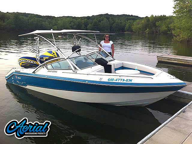 Wakeboard tower for 1989 Wellcraft 220 Elite with Assault Tower with Eclipse Bimini