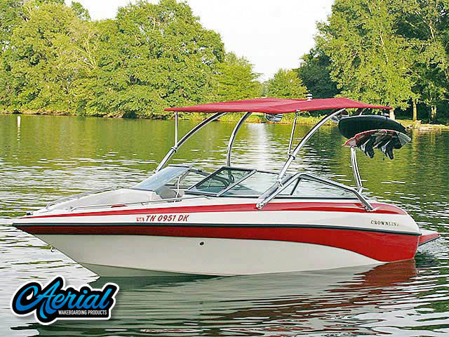 Wakeboard tower for 2003 Crownline 192BR with Airborne Tower with Eclipse Bimini