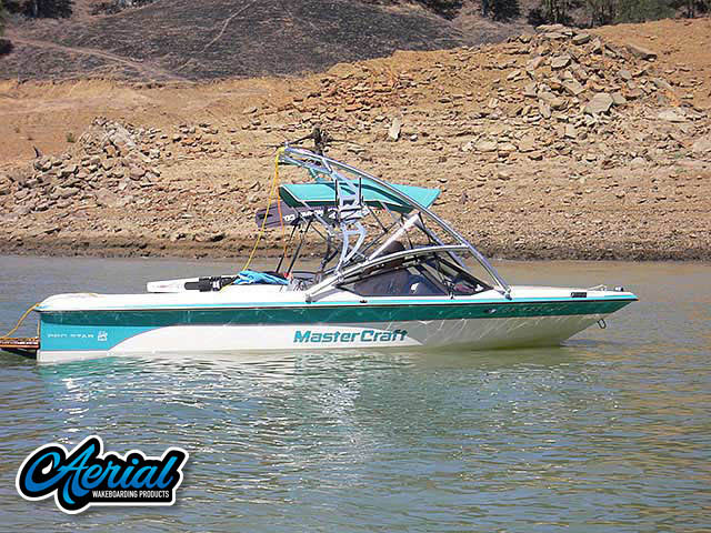 Wakeboard tower package on a 1990 ProStar 190 with an Aerial Assault Tower