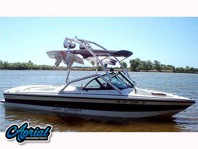 Wakeboard tower for 1999 SANGER DLX boat featuring Aerial's Airborne Tower