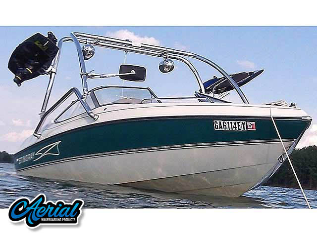 Wakeboard tower for 98 Stingray 190LX boat featuring Aerial's Airborne Tower