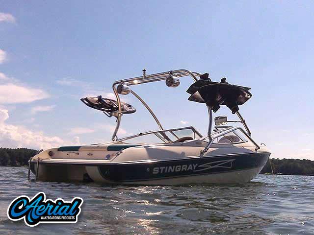 98 Stingray 190LX wakeboard tower, speakers, racks, bimini & lights