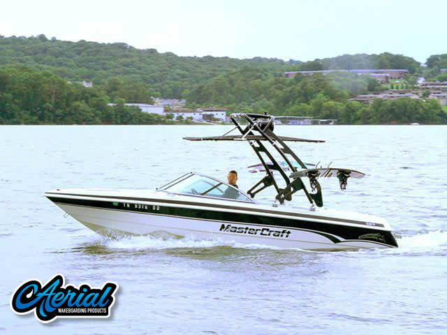 FreeRide Tower with Bimini Wakeboard Installed on 1999 Mastercraft ProStar 205 Boat