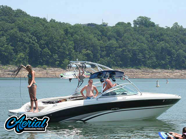 Aerial Assault Tower on a 2004 Sea Ray 220 Bowrider boat