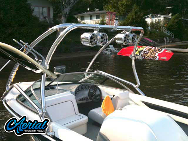 View wakeboard tower and accessories on a Mastercraft prostar 190