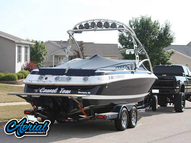 Aerial Assault Tower on a 1996 Cobalt 252 boat