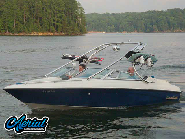 Wakeboard tower for 1992 Crownline BR196 boats by Aerial Wakeboard Tower Products