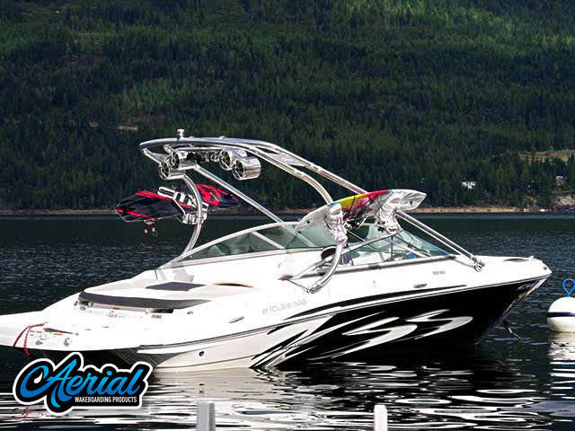 Wakeboard tower for Four Winns boats by Aerial Wakeboard Tower Products