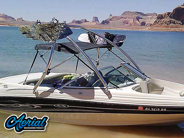 Aerial Ascent Tower on a 2004 Sea Ray 180 Sport boat