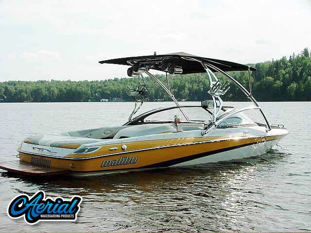 Aerial Assault Tower with Eclipse Bimini on a 2006 Malibu Response LXi boat