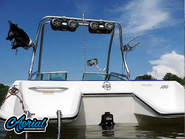 89 sea ray 180 Wakeboard Tower, speakers, racks, bimini