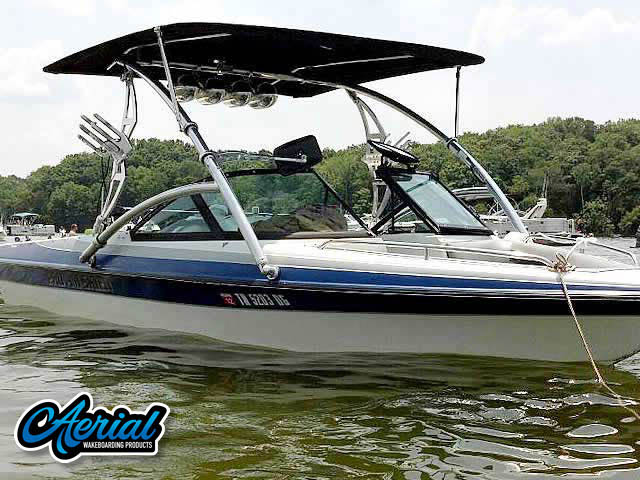 Wakeboard tower for 2007 Pro-Am Skier boats by Aerial Wakeboard Tower Products