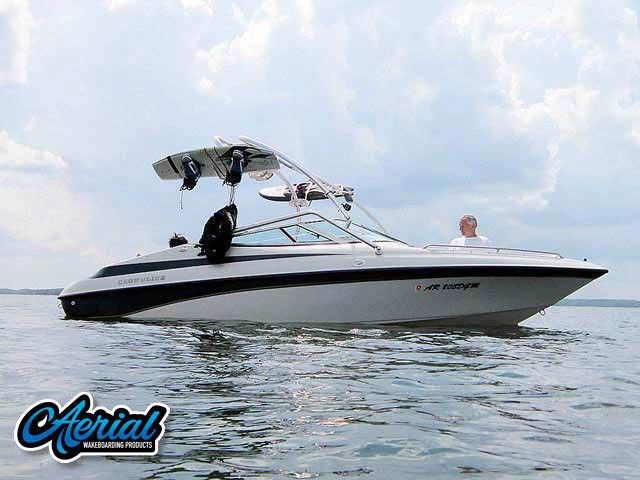 Wakeboard tower for 1997 Crownline 202BR boat featuring Aerial's Airborne Tower