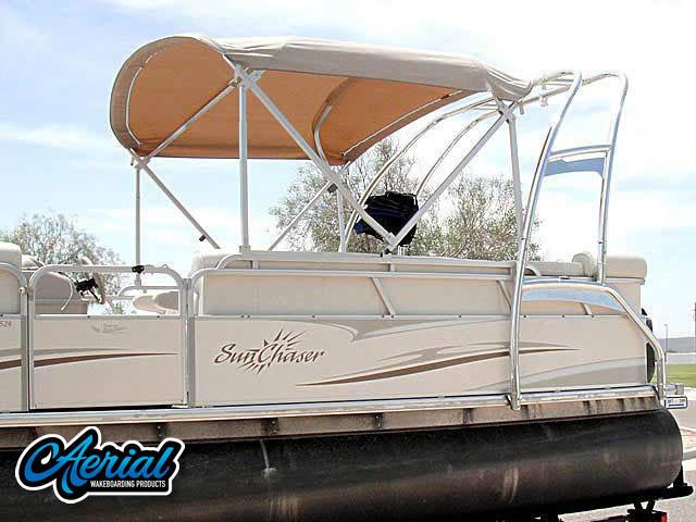 2006 Sunchaser 8524CR, 90EFI Mercury 4stroke pontoon boat wakeboard tower