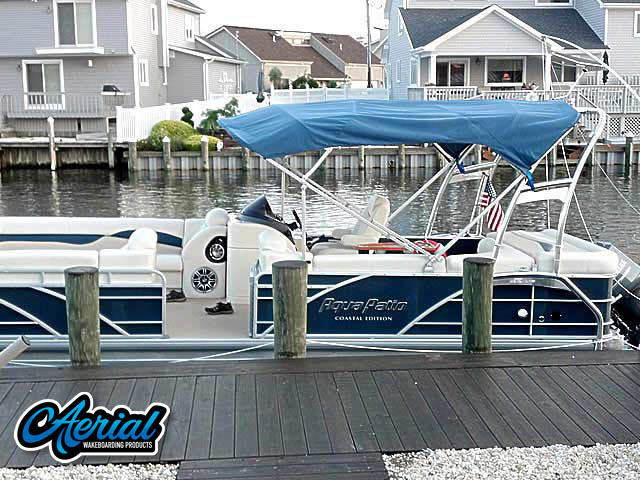 2012 Godfrey AquaPatio Coastal Edition pontoon boat wakeboard tower