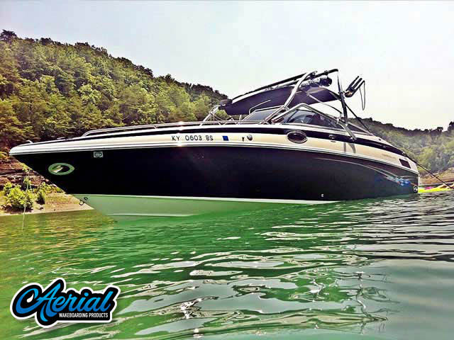 Wakeboard tower for 2005 Crownline 270br boat featuring Aerial's Airborne Tower