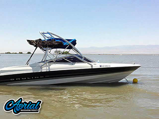Wakeboard tower package on a 1997 Bayliner Capri 2050ls with an Aerial Airborne Tower
