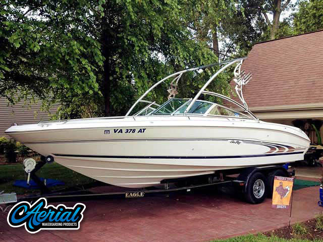 Aerial Assault Tower on a 1998 Sea Ray 230 BR boat