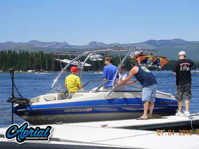 Wakeboard tower for 2005 Glastron with Airborne Tower with Eclipse Bimini