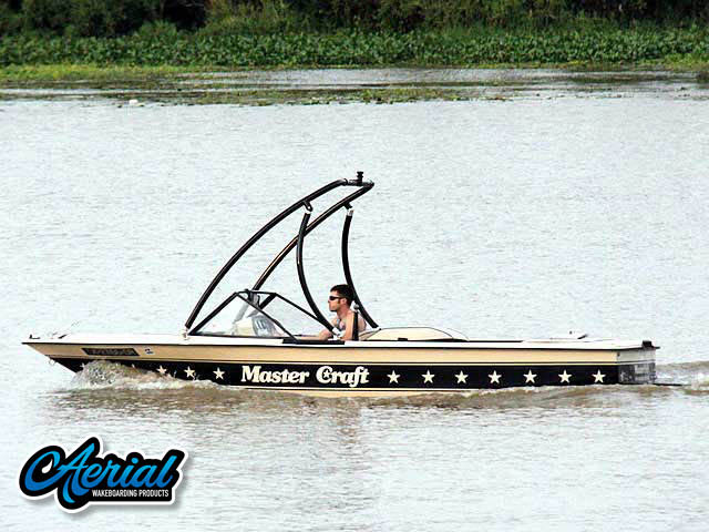 1985 Mastercraft Stars & Stripes Wakeboard Tower, speakers, racks, bimini